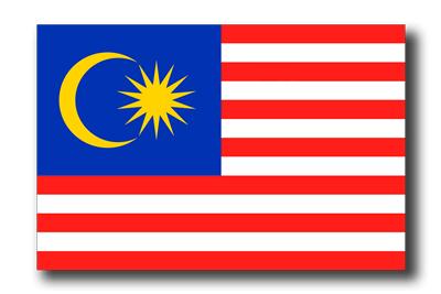 マレーシアの国旗-ドロップシャドウ