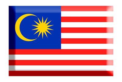 マレーシアの国旗-板チョコ