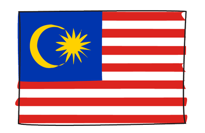マレーシアの国旗-グラフィティ