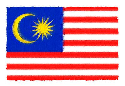 マレーシアの国旗-パステル