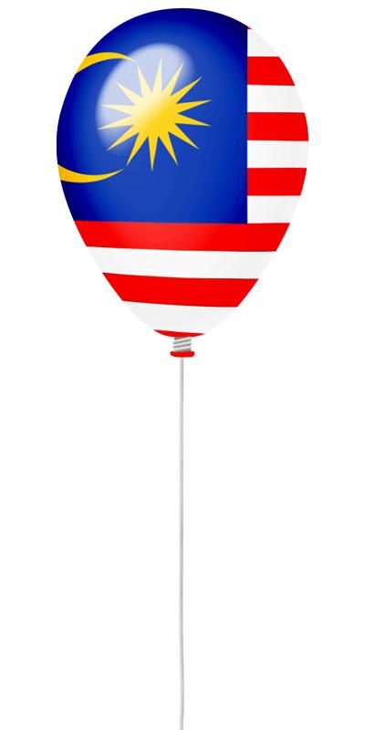 マレーシアの国旗-風せん