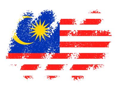 マレーシアの国旗-クレヨン1