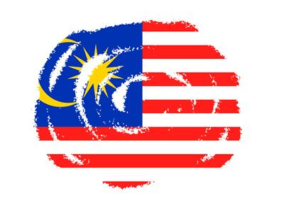 マレーシアの国旗-クラヨン2