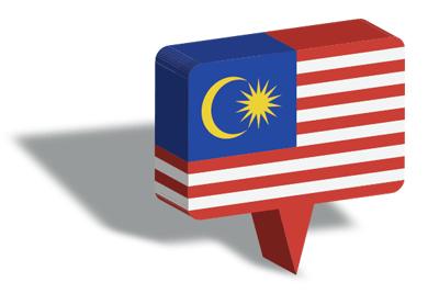 マレーシアの国旗-マップピン