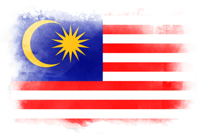マレーシアの国旗-水彩風