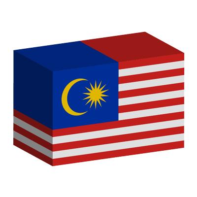 マレーシアの国旗-積み木