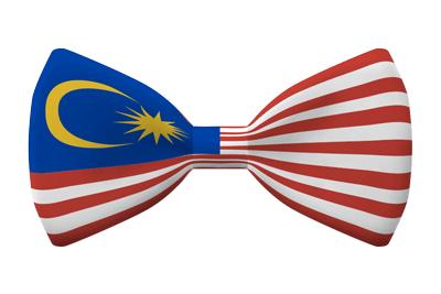 マレーシアの国旗-蝶タイ