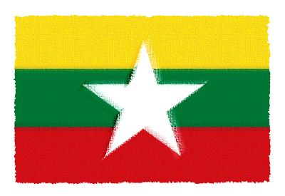 ミャンマー連邦共和国の国旗-パステル