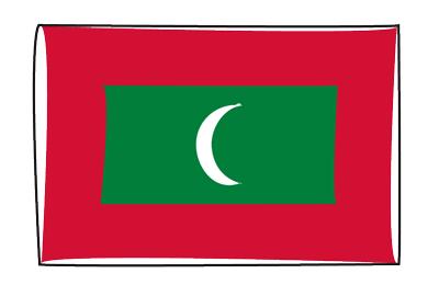 モルディブ共和国の国旗-グラフィティ