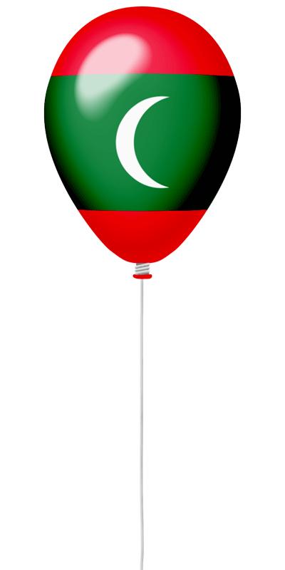 モルディブ共和国の国旗-風せん