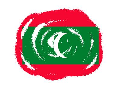 モルディブ共和国の国旗-クラヨン2