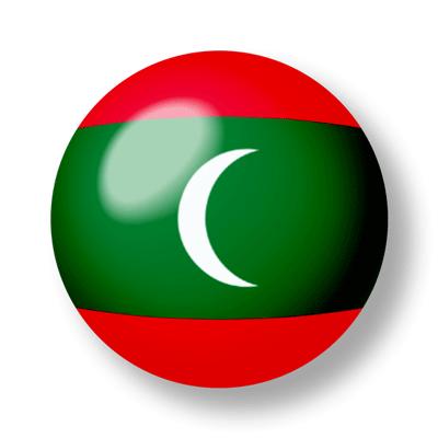 モルディブ共和国の国旗-ビー玉