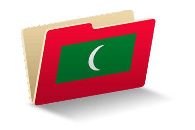 モルディブ共和国の国旗-フォルダ