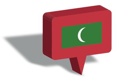 モルディブ共和国の国旗-マップピン