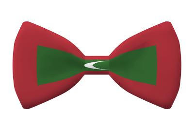 モルディブ共和国の国旗-蝶タイ