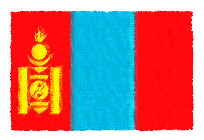 モンゴル国の国旗-パステル