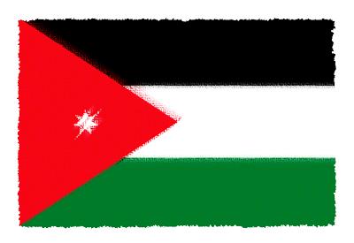 ヨルダン・ハシェミット王国の国旗-パステル