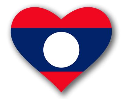 ラオス人民民主共和国の国旗-ハート
