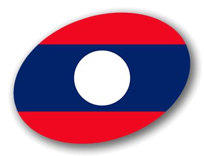 ラオス人民民主共和国の国旗-楕円