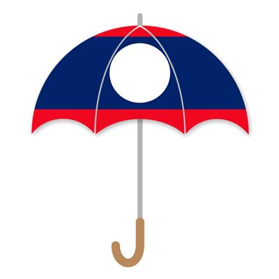 ラオス人民民主共和国の国旗-傘