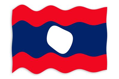 ラオス人民民主共和国の国旗-波