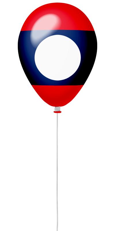 ラオス人民民主共和国の国旗-風せん