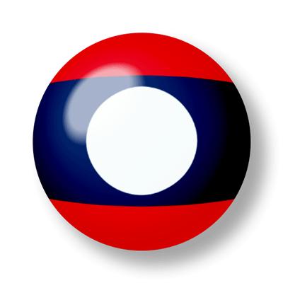 ラオス人民民主共和国の国旗-ビー玉