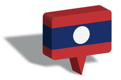 ラオス人民民主共和国の国旗-マップピン