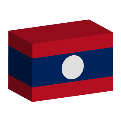 ラオス人民民主共和国の国旗-積み木