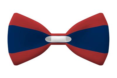 ラオス人民民主共和国の国旗-蝶タイ