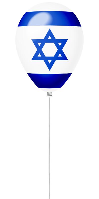 イスラエル国の国旗-風せん