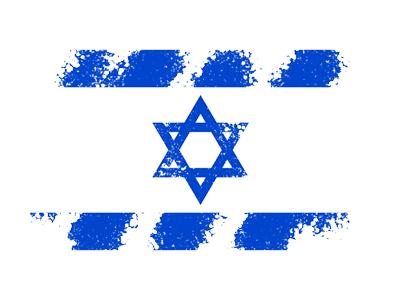 イスラエル国の国旗-クレヨン1