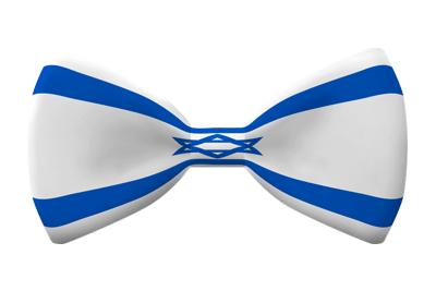 イスラエル国の国旗-蝶タイ