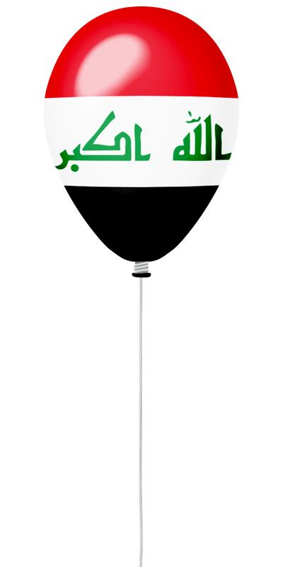 イラク共和国の国旗-風せん