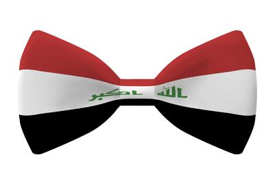 イラク共和国の国旗-蝶タイ