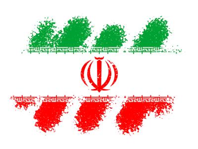 イラン・イスラム共和国の国旗-クレヨン1