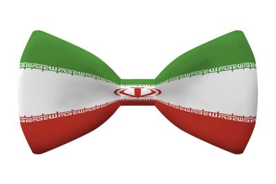 イラン・イスラム共和国の国旗-蝶タイ