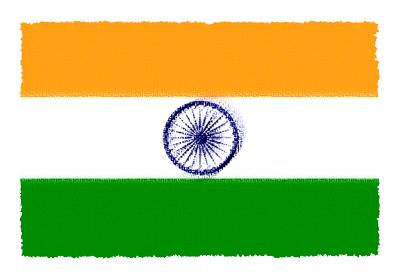 インドの国旗-パステル