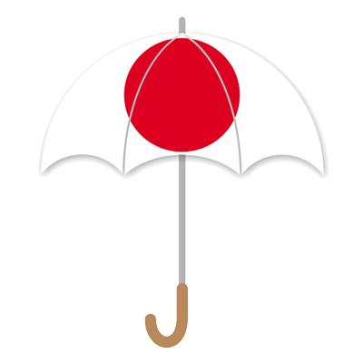 日本の国旗-傘