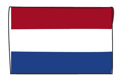 オランダ王国の国旗-グラフィティ