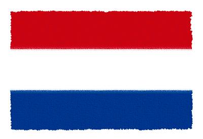 オランダ王国の国旗-パステル