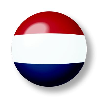 オランダ王国の国旗-ビー玉