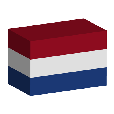 オランダ王国の国旗-積み木