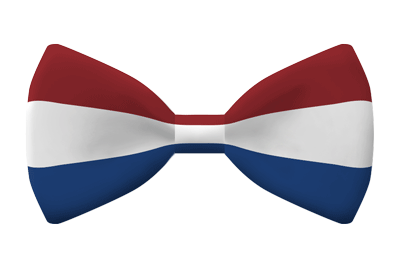 オランダ王国の国旗-蝶タイ
