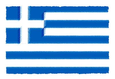 ギリシャ共和国の国旗-パステル