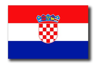 クロアチア共和国の国旗-ドロップシャドウ