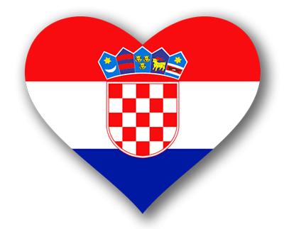 クロアチア共和国の国旗-ハート