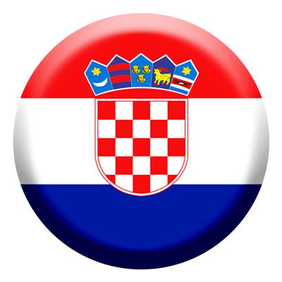 クロアチア共和国の国旗-コイン