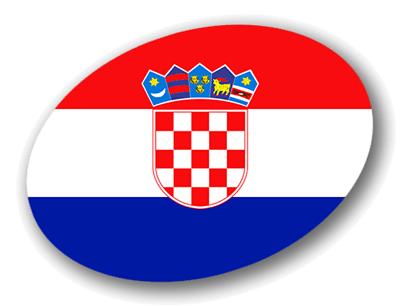 クロアチア共和国の国旗-楕円
