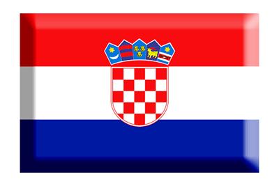クロアチア共和国の国旗-板チョコ